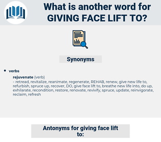 giving face lift to, synonym giving face lift to, another word for giving face lift to, words like giving face lift to, thesaurus giving face lift to