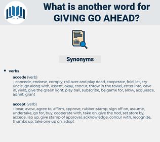 giving go ahead, synonym giving go ahead, another word for giving go ahead, words like giving go ahead, thesaurus giving go ahead