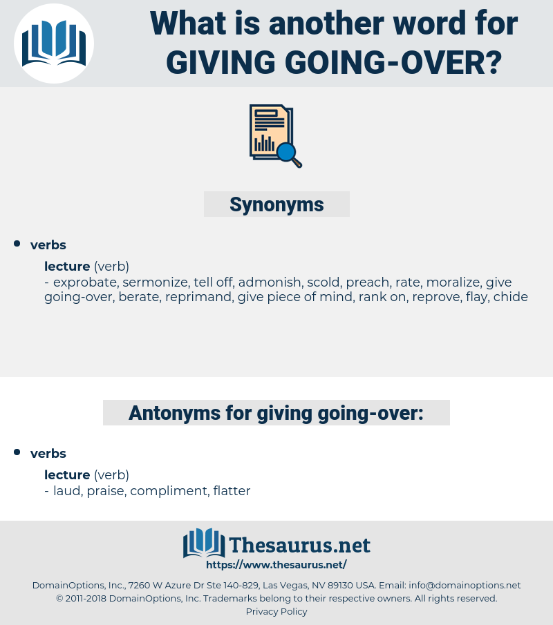 giving going over, synonym giving going over, another word for giving going over, words like giving going over, thesaurus giving going over