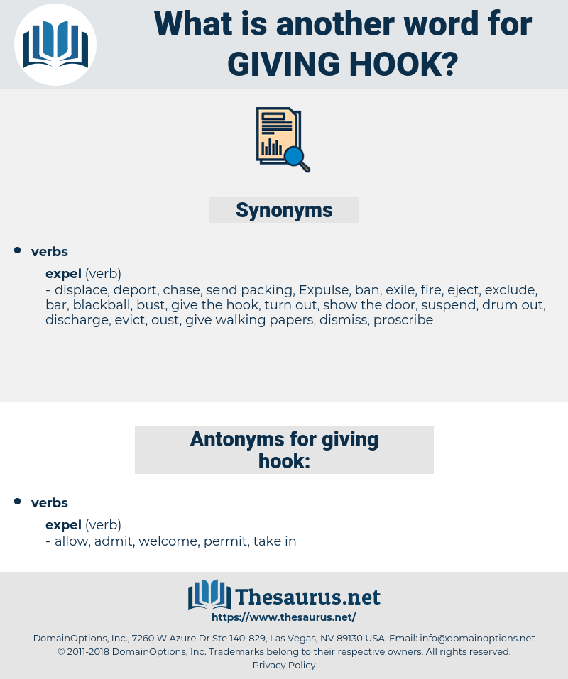 giving hook, synonym giving hook, another word for giving hook, words like giving hook, thesaurus giving hook