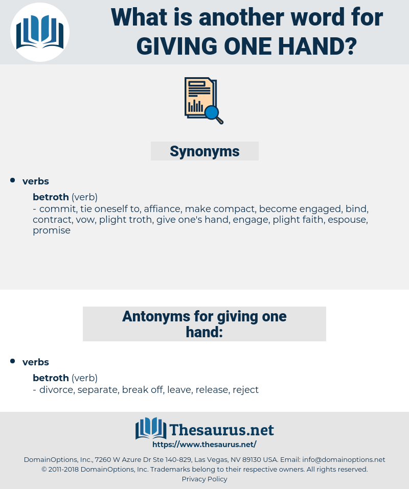 giving one hand, synonym giving one hand, another word for giving one hand, words like giving one hand, thesaurus giving one hand