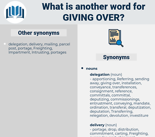 giving over, synonym giving over, another word for giving over, words like giving over, thesaurus giving over