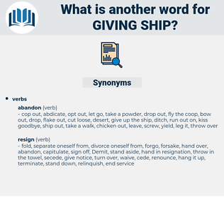 giving ship, synonym giving ship, another word for giving ship, words like giving ship, thesaurus giving ship