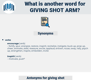 giving shot arm, synonym giving shot arm, another word for giving shot arm, words like giving shot arm, thesaurus giving shot arm