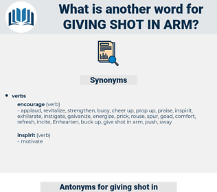 giving shot in arm, synonym giving shot in arm, another word for giving shot in arm, words like giving shot in arm, thesaurus giving shot in arm