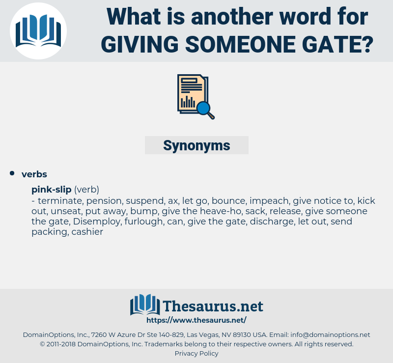 giving someone gate, synonym giving someone gate, another word for giving someone gate, words like giving someone gate, thesaurus giving someone gate