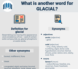 glacial, synonym glacial, another word for glacial, words like glacial, thesaurus glacial