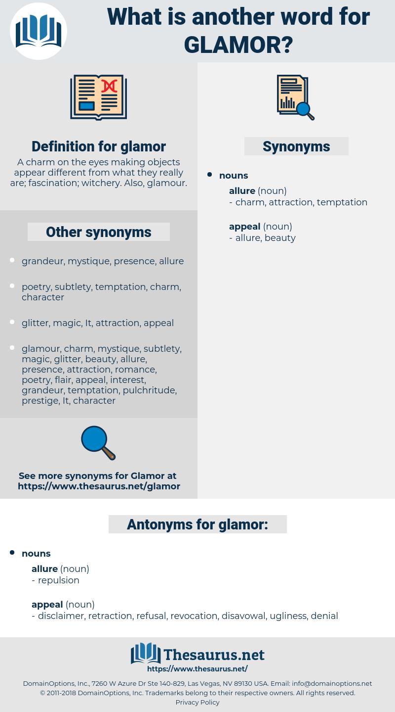 glamor, synonym glamor, another word for glamor, words like glamor, thesaurus glamor