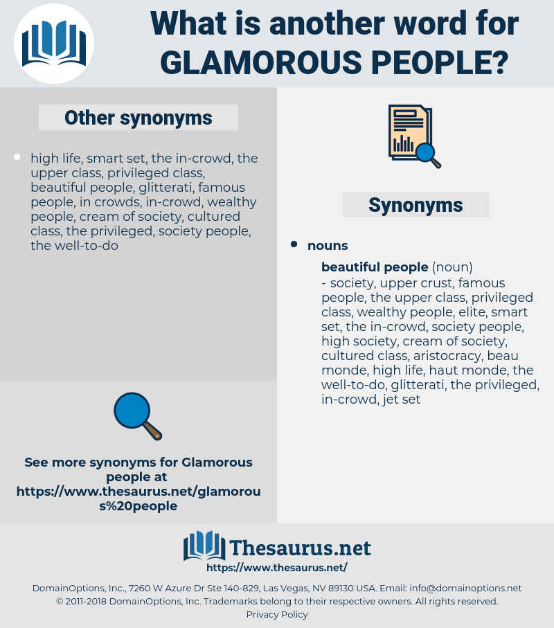 glamorous people, synonym glamorous people, another word for glamorous people, words like glamorous people, thesaurus glamorous people