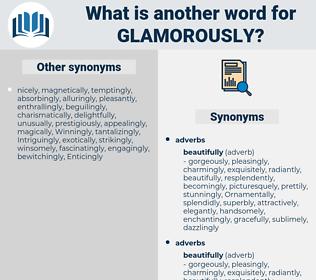 glamorously, synonym glamorously, another word for glamorously, words like glamorously, thesaurus glamorously