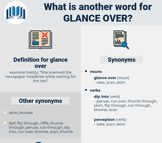 glance over, synonym glance over, another word for glance over, words like glance over, thesaurus glance over