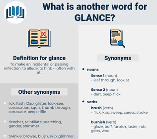 glance, synonym glance, another word for glance, words like glance, thesaurus glance