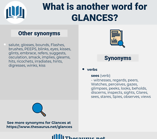 glances, synonym glances, another word for glances, words like glances, thesaurus glances