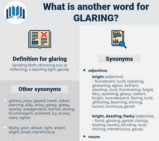 glaring, synonym glaring, another word for glaring, words like glaring, thesaurus glaring