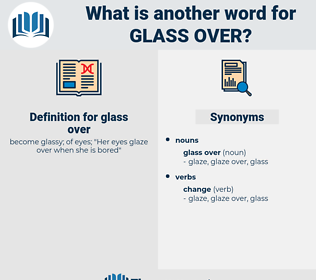 glass over, synonym glass over, another word for glass over, words like glass over, thesaurus glass over