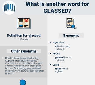 glassed, synonym glassed, another word for glassed, words like glassed, thesaurus glassed