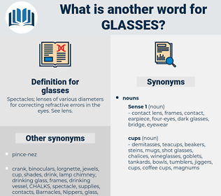 glasses, synonym glasses, another word for glasses, words like glasses, thesaurus glasses