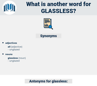 glassless, synonym glassless, another word for glassless, words like glassless, thesaurus glassless