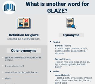 glaze, synonym glaze, another word for glaze, words like glaze, thesaurus glaze
