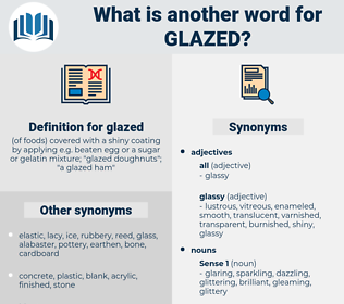 glazed, synonym glazed, another word for glazed, words like glazed, thesaurus glazed