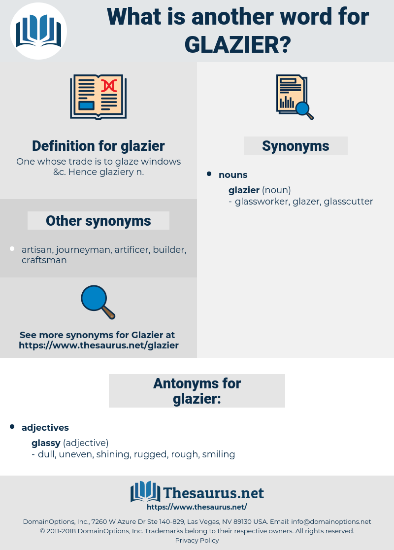 glazier, synonym glazier, another word for glazier, words like glazier, thesaurus glazier
