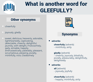 gleefully, synonym gleefully, another word for gleefully, words like gleefully, thesaurus gleefully