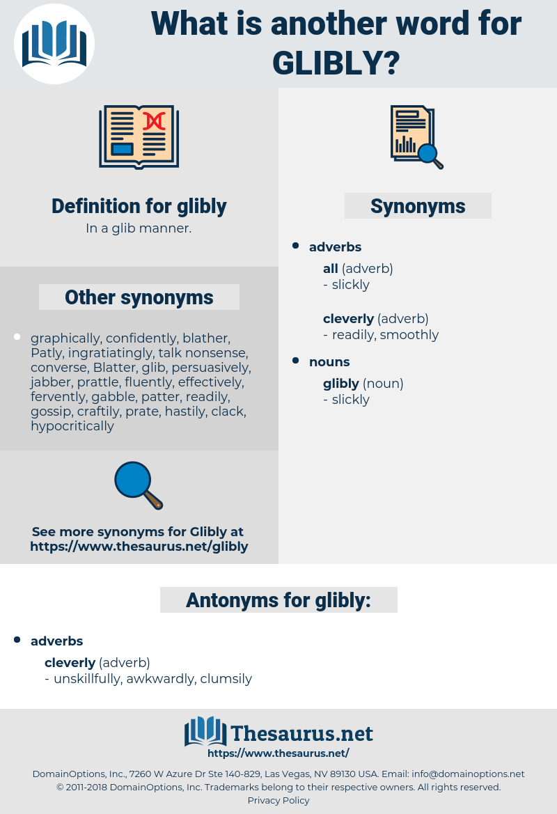glibly, synonym glibly, another word for glibly, words like glibly, thesaurus glibly