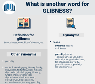 glibness, synonym glibness, another word for glibness, words like glibness, thesaurus glibness