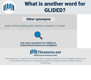 Glided, synonym Glided, another word for Glided, words like Glided, thesaurus Glided