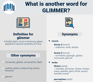 glimmer, synonym glimmer, another word for glimmer, words like glimmer, thesaurus glimmer