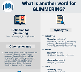 glimmering, synonym glimmering, another word for glimmering, words like glimmering, thesaurus glimmering