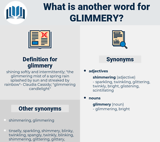 glimmery, synonym glimmery, another word for glimmery, words like glimmery, thesaurus glimmery