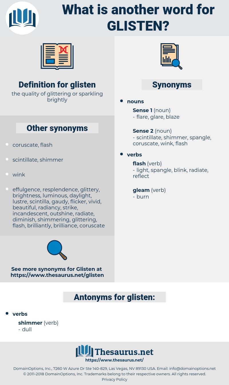 glisten, synonym glisten, another word for glisten, words like glisten, thesaurus glisten