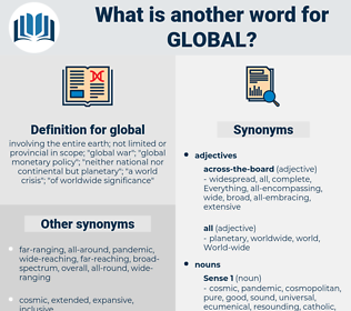 global, synonym global, another word for global, words like global, thesaurus global