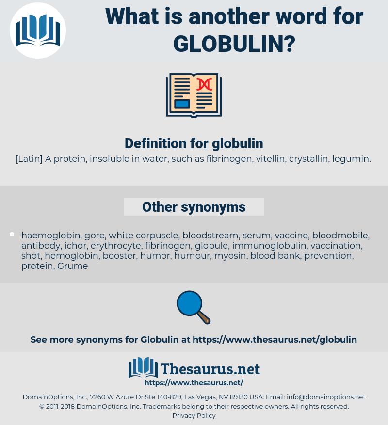 globulin, synonym globulin, another word for globulin, words like globulin, thesaurus globulin