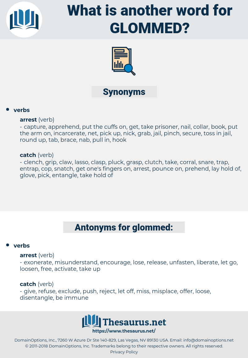 glommed, synonym glommed, another word for glommed, words like glommed, thesaurus glommed