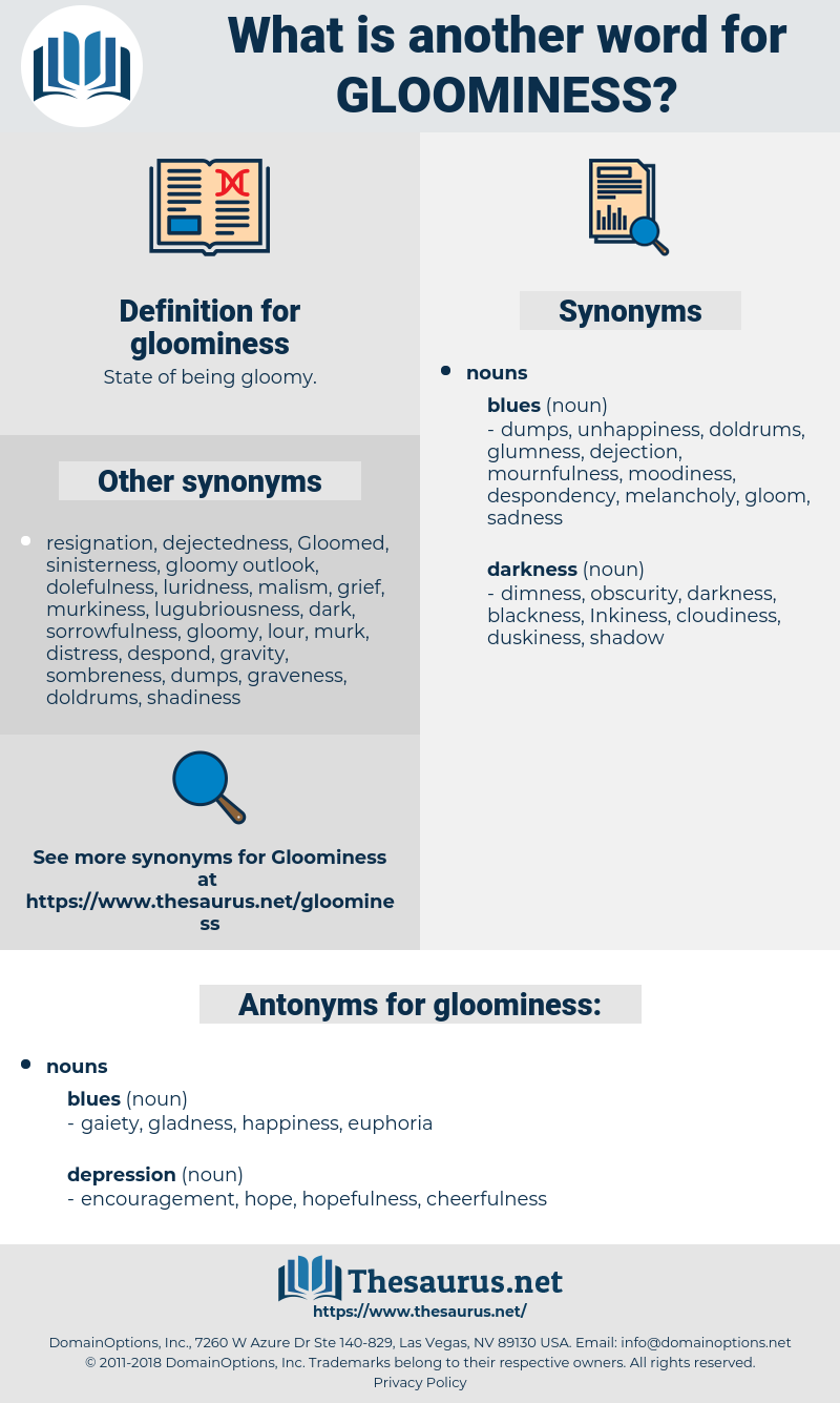 gloominess, synonym gloominess, another word for gloominess, words like gloominess, thesaurus gloominess