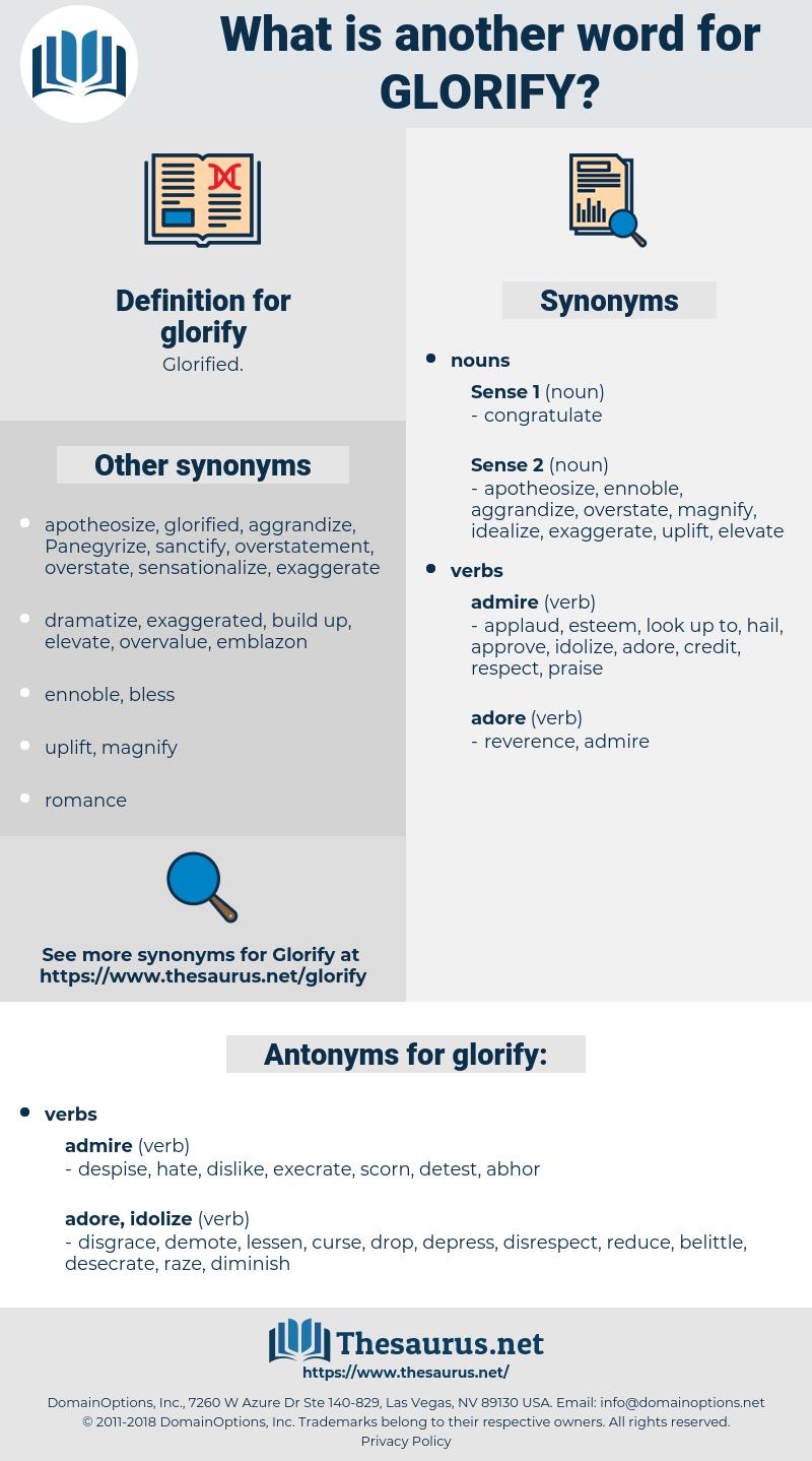 glorify, synonym glorify, another word for glorify, words like glorify, thesaurus glorify