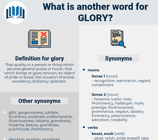 glory, synonym glory, another word for glory, words like glory, thesaurus glory
