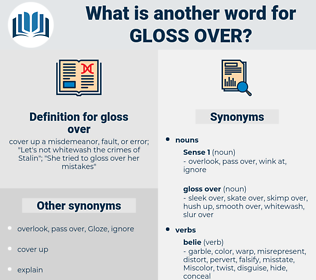 gloss over, synonym gloss over, another word for gloss over, words like gloss over, thesaurus gloss over