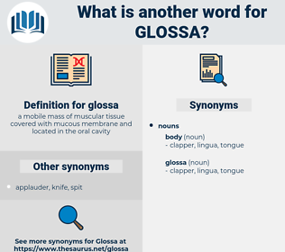 glossa, synonym glossa, another word for glossa, words like glossa, thesaurus glossa