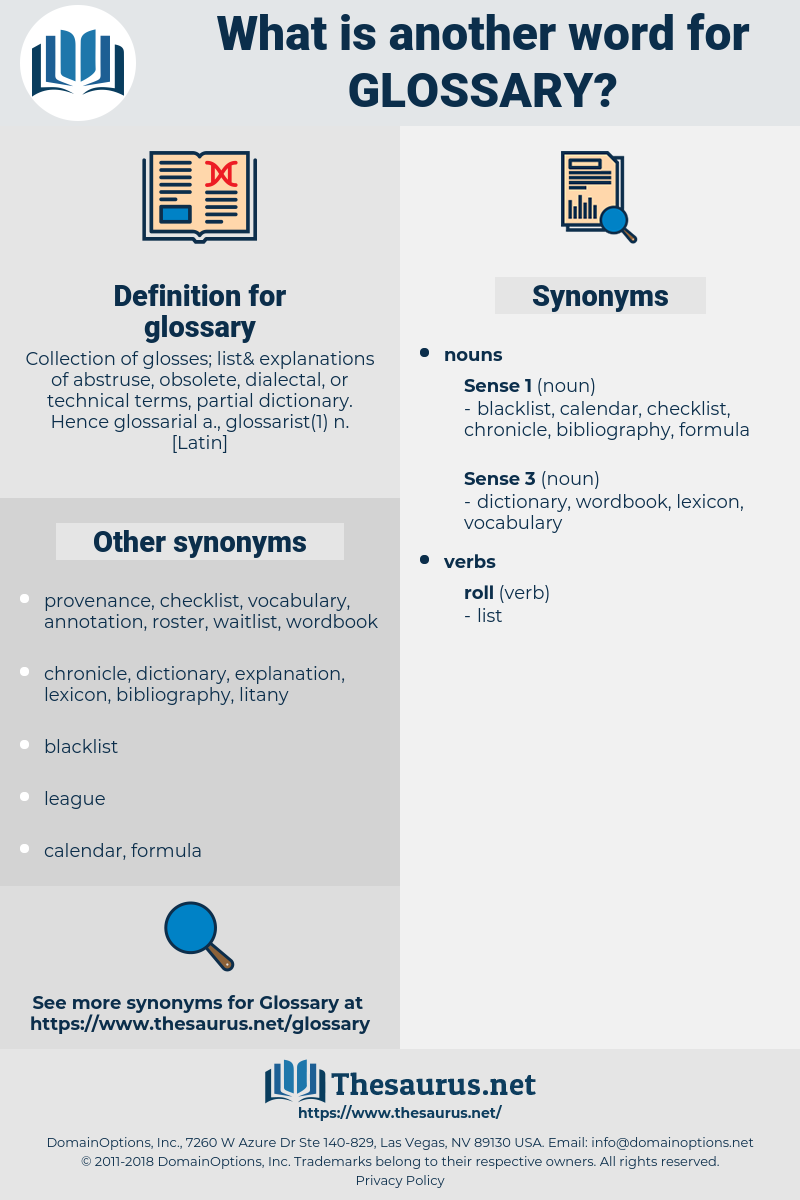 glossary, synonym glossary, another word for glossary, words like glossary, thesaurus glossary