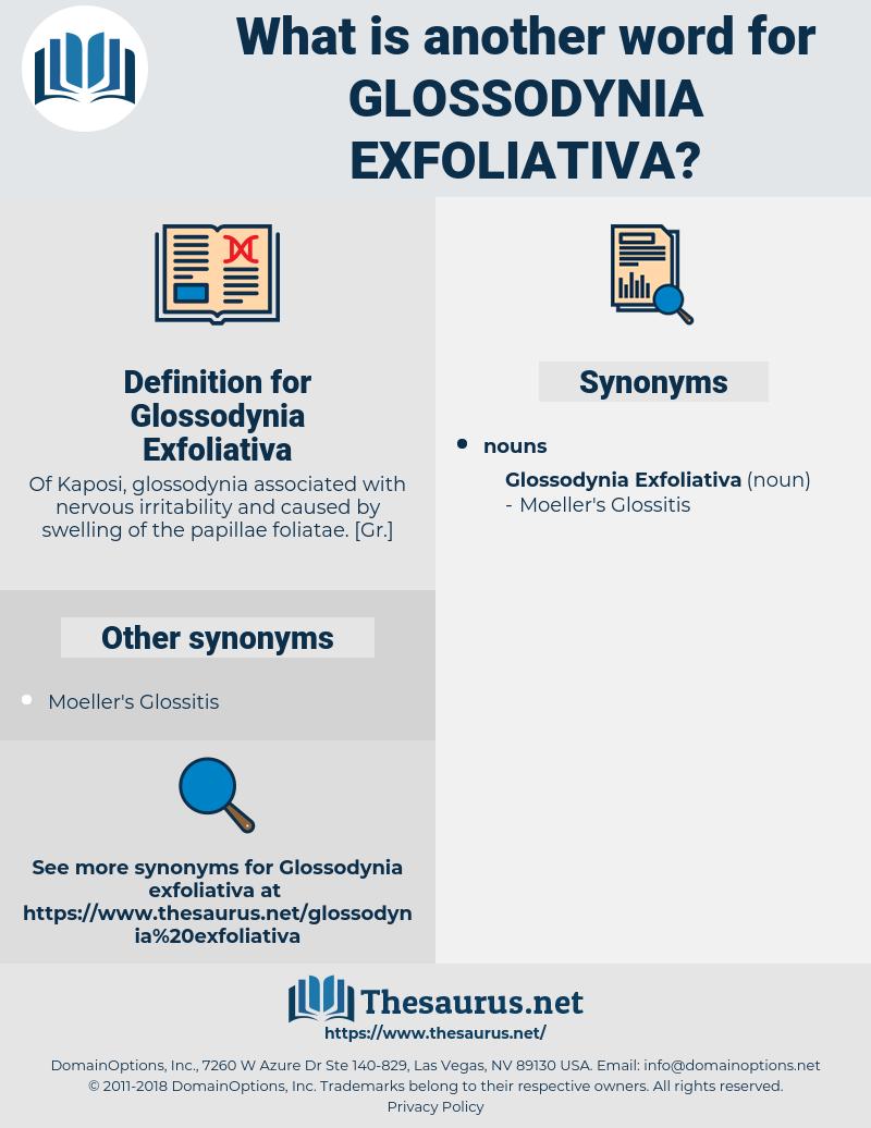 Glossodynia Exfoliativa, synonym Glossodynia Exfoliativa, another word for Glossodynia Exfoliativa, words like Glossodynia Exfoliativa, thesaurus Glossodynia Exfoliativa