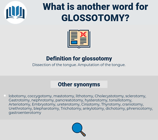 glossotomy, synonym glossotomy, another word for glossotomy, words like glossotomy, thesaurus glossotomy