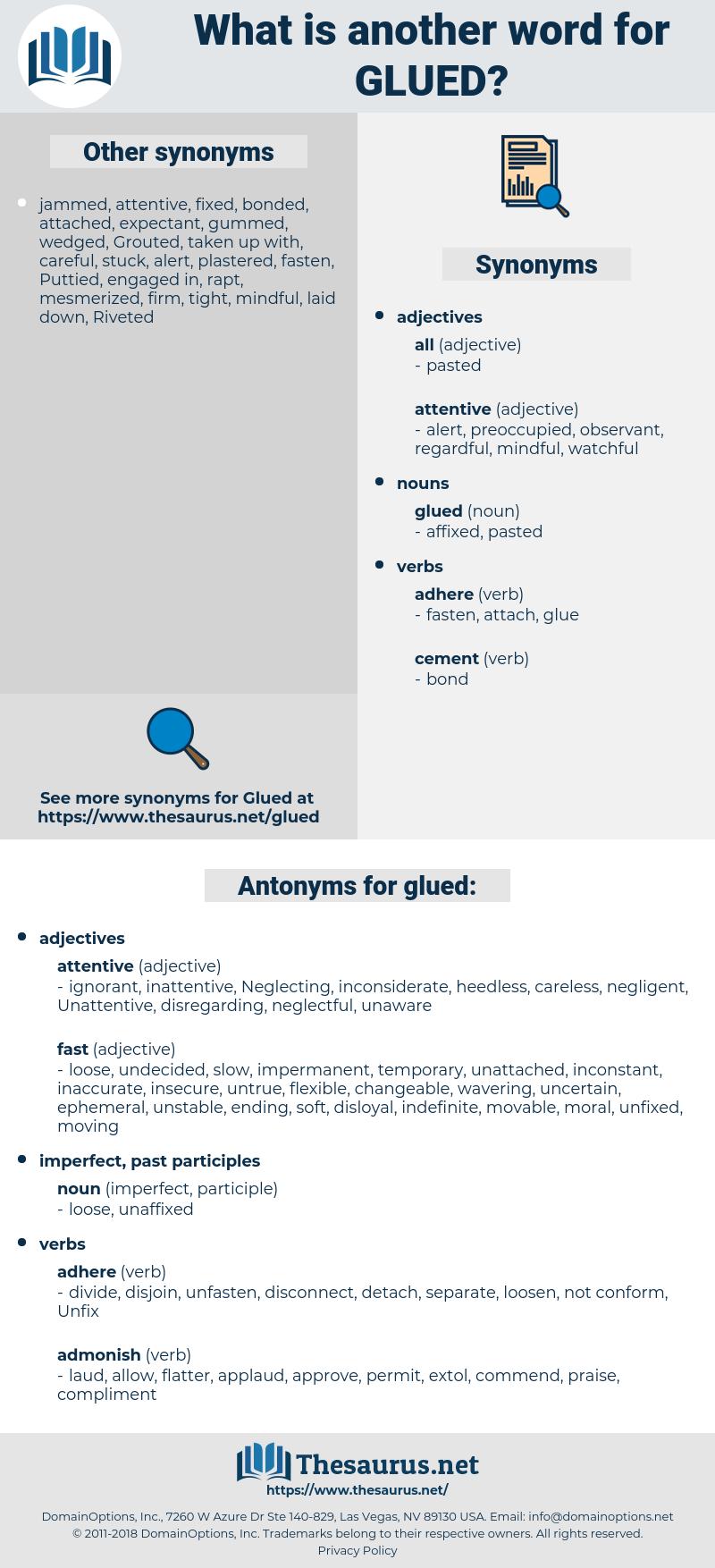 glued, synonym glued, another word for glued, words like glued, thesaurus glued