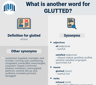 glutted, synonym glutted, another word for glutted, words like glutted, thesaurus glutted