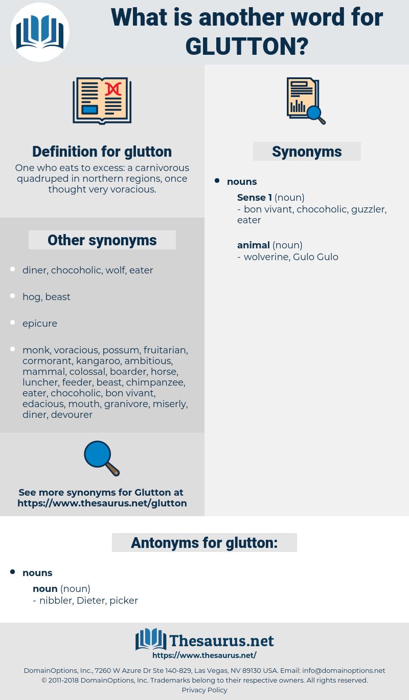 glutton, synonym glutton, another word for glutton, words like glutton, thesaurus glutton