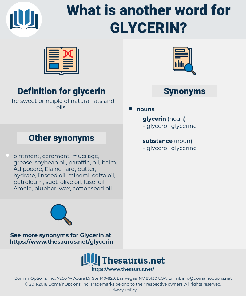 glycerin, synonym glycerin, another word for glycerin, words like glycerin, thesaurus glycerin