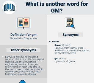 gm, synonym gm, another word for gm, words like gm, thesaurus gm