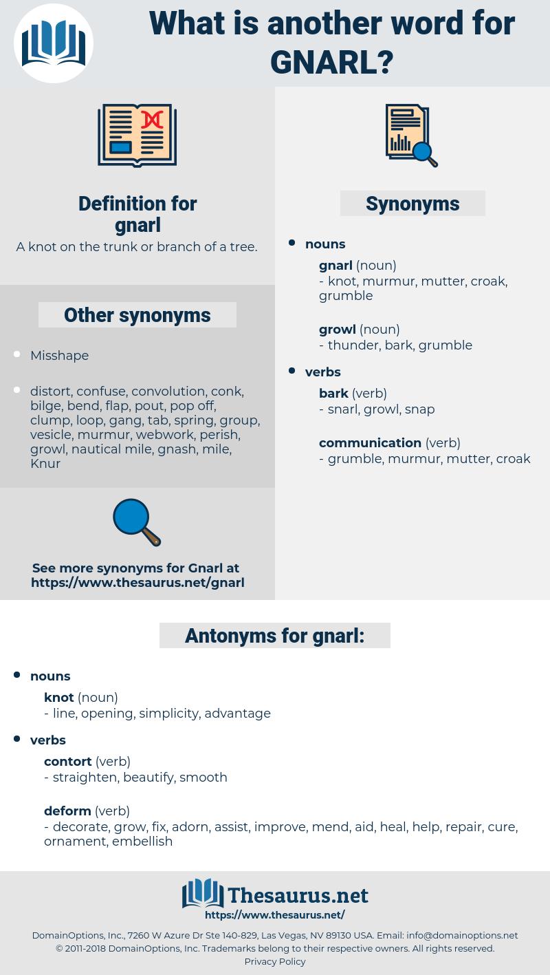 gnarl, synonym gnarl, another word for gnarl, words like gnarl, thesaurus gnarl